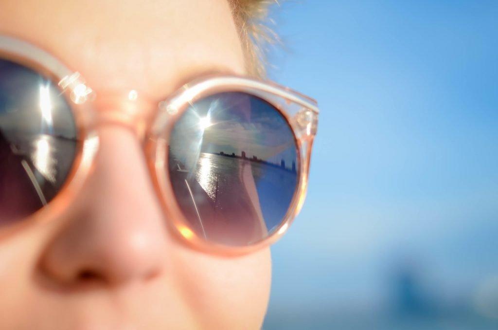 wearing prescription sunglasses